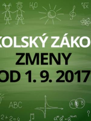 Školský zákon  čakajú od 1. septembra 2017 ďalšie zmeny