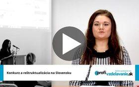 Reportáž z konferencie Konkurz a reštrukturalizácia na Slovensku