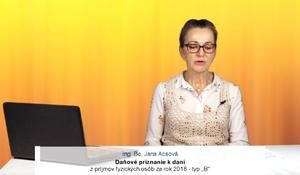 """Daňové priznanie k dani z príjmov fyzických osôb za rok 2018 – typ """"B"""""""