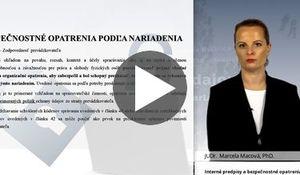 Interné predpisy a bezpečnostné opatrenia podľa nového zákona o OOÚ a nariadenia GDPR