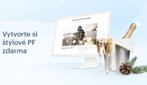 Webnode ponúka tvorbu moderného vianočného priania cez internet