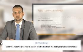 Efektívne riešenie pracovných sporov prostredníctvom mediačných zručností manažéra